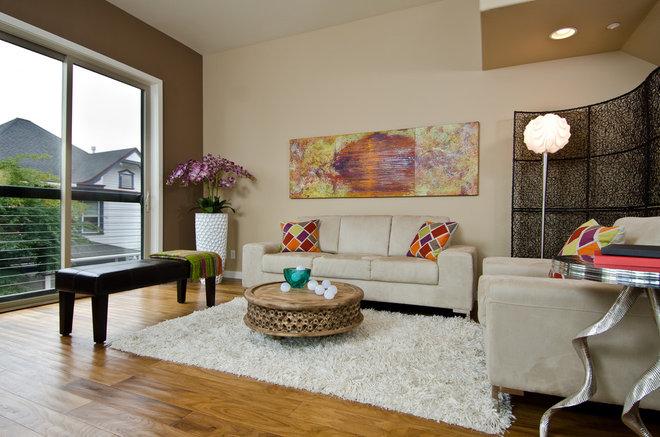 Contemporary Living Room by Pangaea Interior Design, Portland, OR