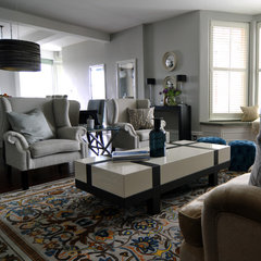 contemporary family room by Kia Designs