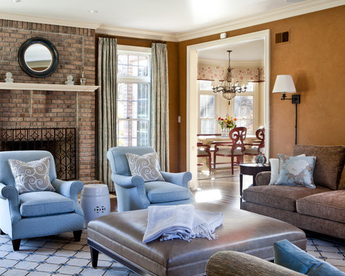 Blue And Brown Living Room Design Ideas Pictures Remodel