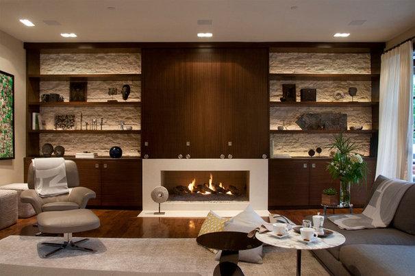 Contemporary Living Room by Toro-Lombardo Design Build