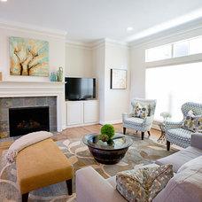Transitional Living Room by Pamela Hope Designs