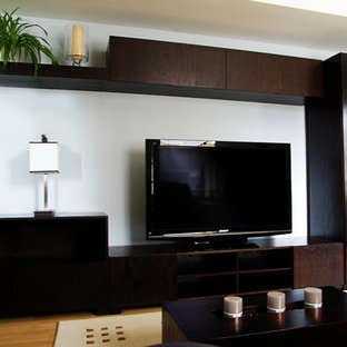 Wall Unit Bar Inspiration For A Contemporary Living Room Remodel In Montreal