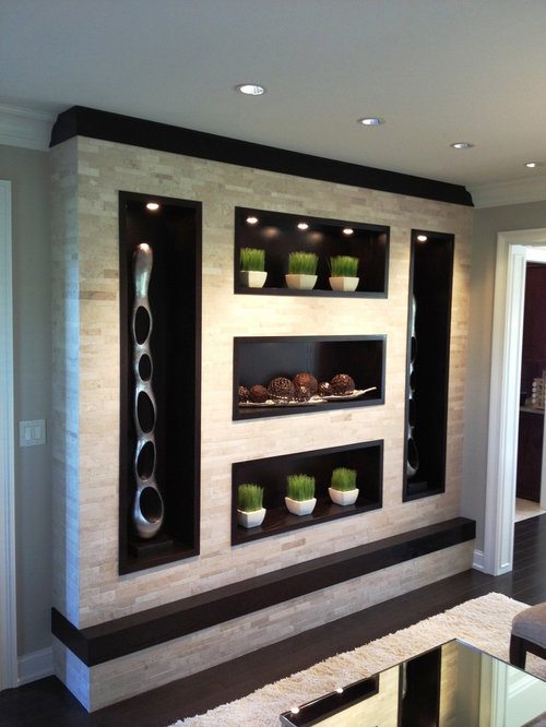 Contemporary Wall Units Houzz