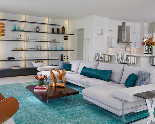 designing living room ideas. Example of a trendy formal and open concept gray floor living room design  in Miami with Best 25 Living Room Ideas Decoration Pictures Houzz