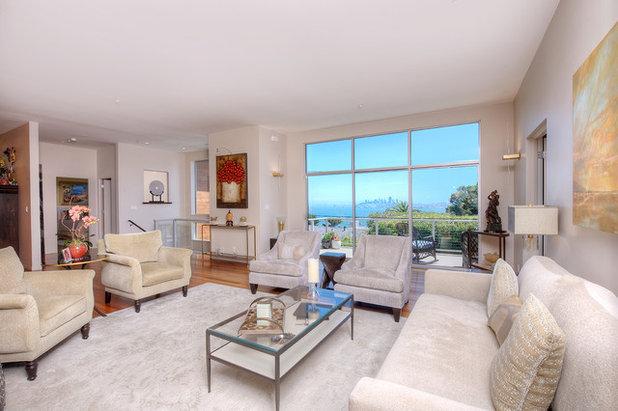 Contemporary Living Room Contemporary with San Francisco Views