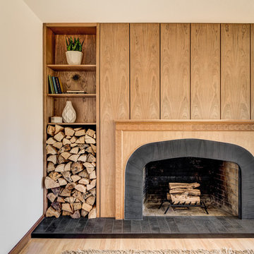 Contemporary with Warm Wood Accents