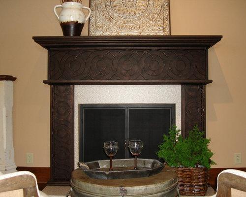 iron fireplace mantel houzz