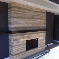 Modern Living Room by Kunstler Stone Marble &Granite