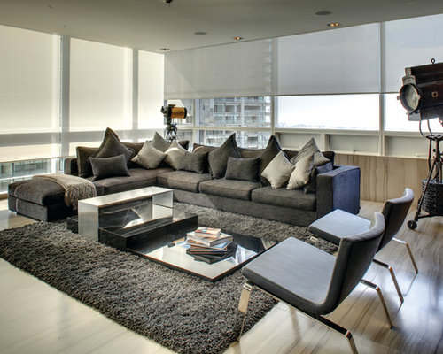 Inspiration For A Contemporary Living Room Remodel In Salt Lake City