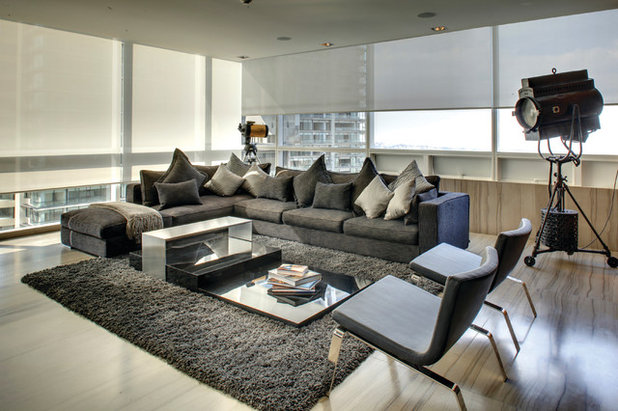 Contemporary Living Room by Control4