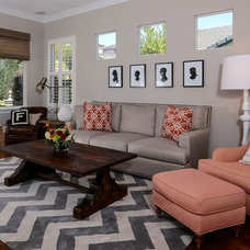 Transitional Living Room by Kerrie L. Kelly