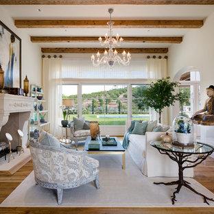 Cooler Tones Living Room Interior Design in Rancho Santa Fe by Susan Spath