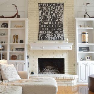 Eklektisches Wohnzimmer in Dallas