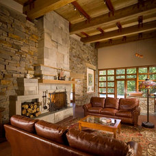 Traditional Living Room by Desmone & Associates
