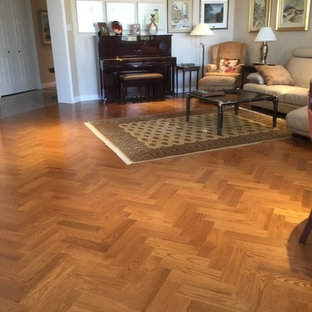 Copper Red Oak Hardwood Flooring - Living Room