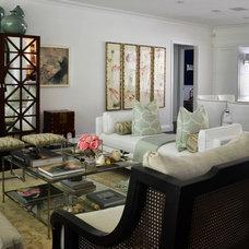Transitional Living Room by ROBIN RILE FINE ART