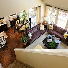 Transitional Living Room by Keller Homes, Inc.
