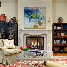Eclectic Living Room by Reed Design Group