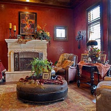 Mediterranean Living Room by Burdick Custom Homes