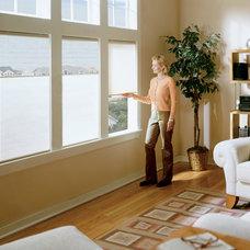 Contemporary Living Room by CellularWindowShades.com