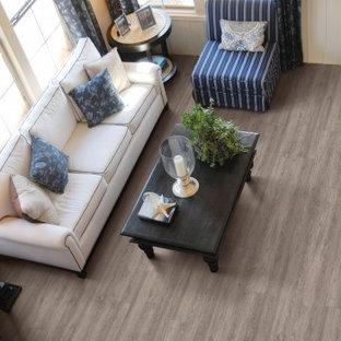 Inspiration for a timeless vinyl floor living room remodel in Sacramento