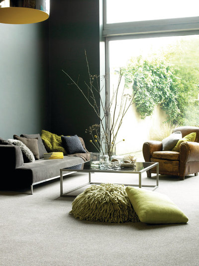 Contemporary Living Room by Whilton Locks Carpet Co.