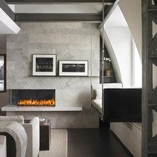 Modern Living Room by Montigo Fireplaces