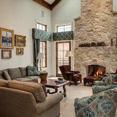Traditional Living Room by Lu-Tek Inc.