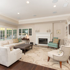 Transitional Living Room by Sea Pointe Construction