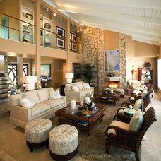 Tropical Living Room by Coast to Coast Interiors