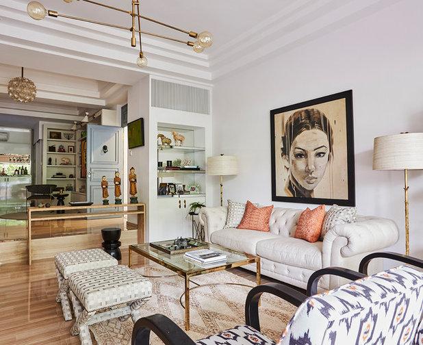 Contemporary Living Room by E & A Interiors