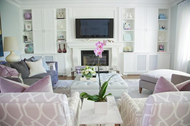 Contemporary Living Room by barlow reid design