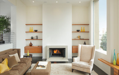 8 Ways to Frame Your Fireplace With Shelves