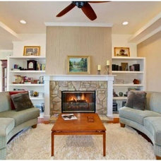 Contemporary Living Room by Meissner Construction, Inc.