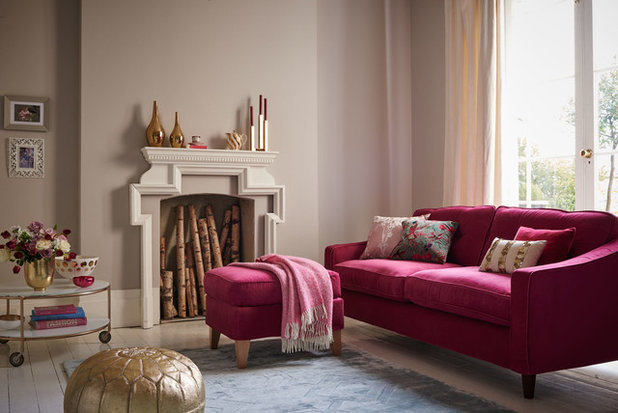 Transitional Living Room by Dulux Amazing Space