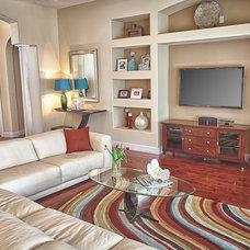 Contemporary Living Room by Angela Gutekunst Interiors, Inc.