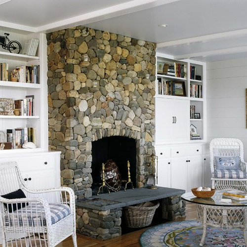 Cottage Living Room With Fireplace cottage fireplace | houzz
