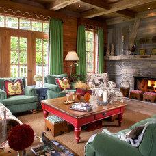 Rustic Living Room by LBGB   /   LA BELLE GUEULE DE BOIS