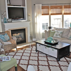 Beach Style Living Room by Ally Whalen Design