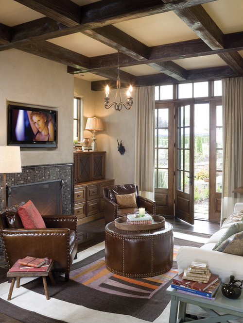 Houzz Cottage Living Room: French Country Rustic Beach Ideas, Pictures, Remodel And Decor