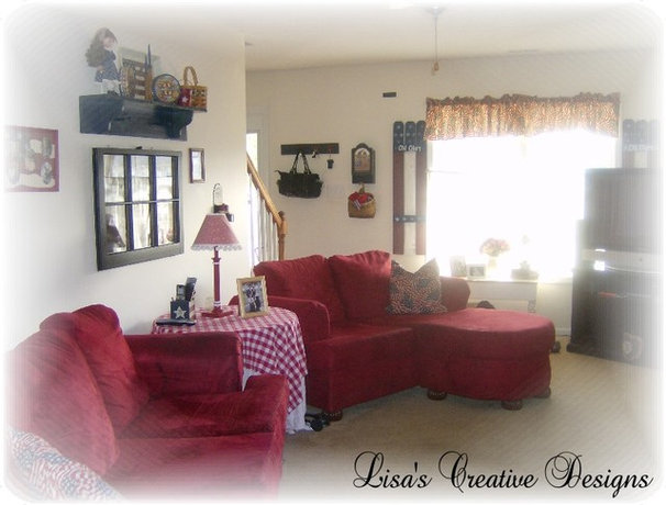 Traditional Living Room by Lisa's Creative Designs