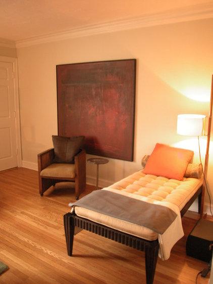 Transitional Living Room by Mark Dodge Design