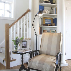 Beach style library living room design ideas pictures for Christine huve interior designs