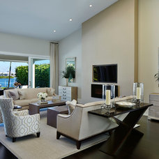 Transitional Living Room by Turtle Beach Construction & Remodeling