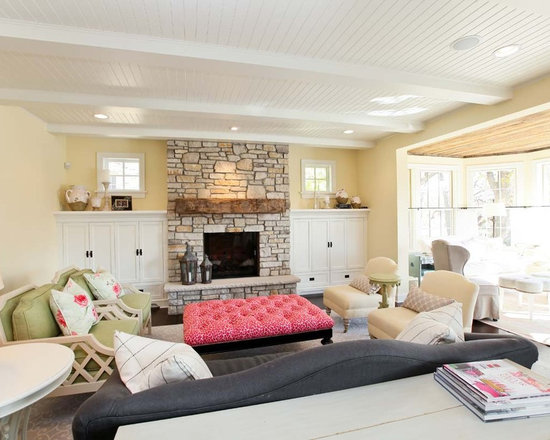 Cottage Style Living Room Houzz - Cottage style living rooms