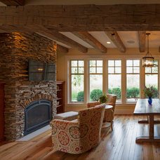 Rustic Living Room by Kyle Hunt & Partners, Incorporated