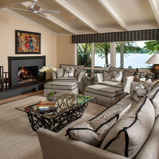 Contemporary Living Room by Interiors by Mary Susan