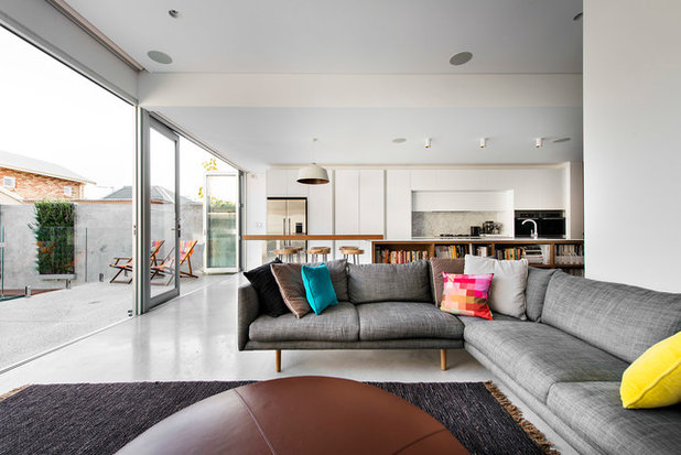 Contemporary Living Room by D-Max Photography