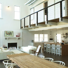 Farmhouse Living Room by Linton Architects