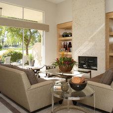 Contemporary Living Room by Joel Dessaules Design